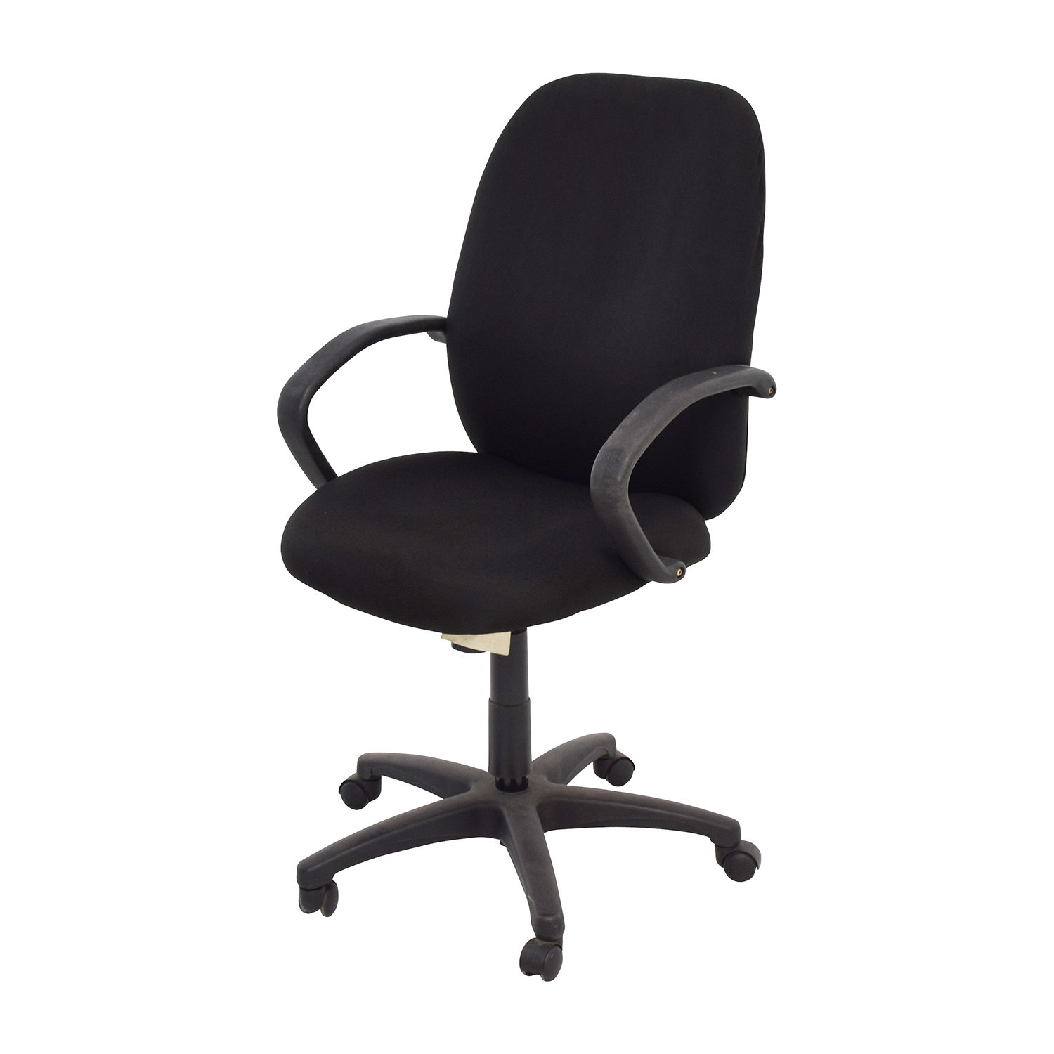 office chair with adjustable arms extra tall high 80% off - black swivel / chairs