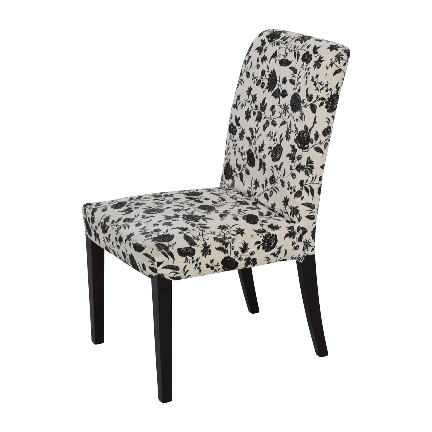 Floral Chairs 77 Off Black And White Floral Dining Chair Chairs