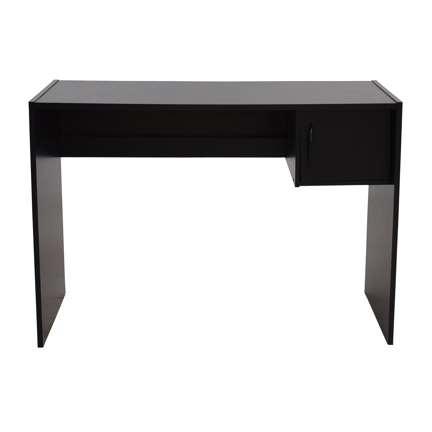 58 OFF  Mainstays Mainstays Black Desk with Storage  Tables