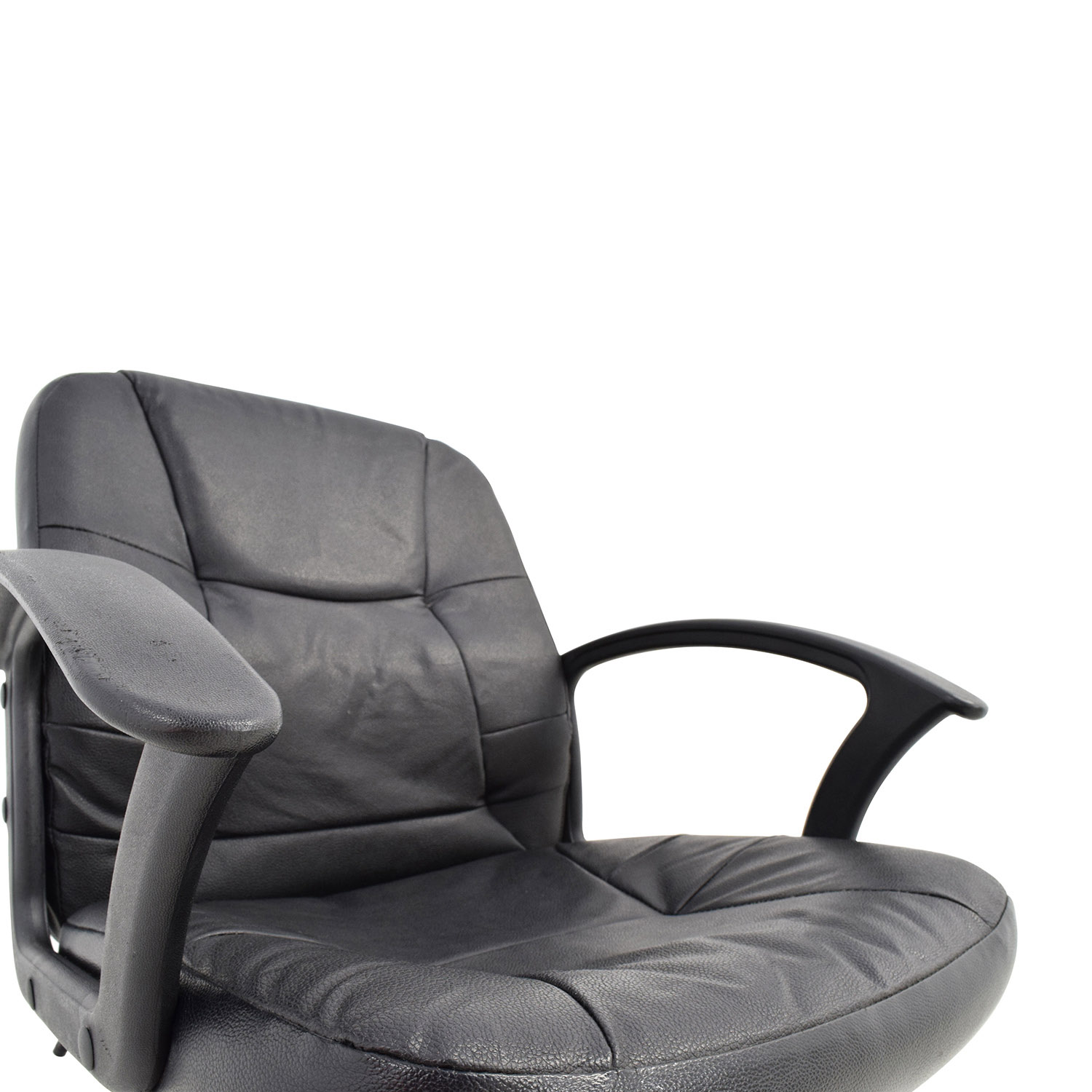 black leather desk chairs chair cover rentals las vegas 75 off adjustable