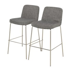 Black Bar Stool Chairs Hanging Chair Droplet 26 Off Cb2 Charlie And White Stools