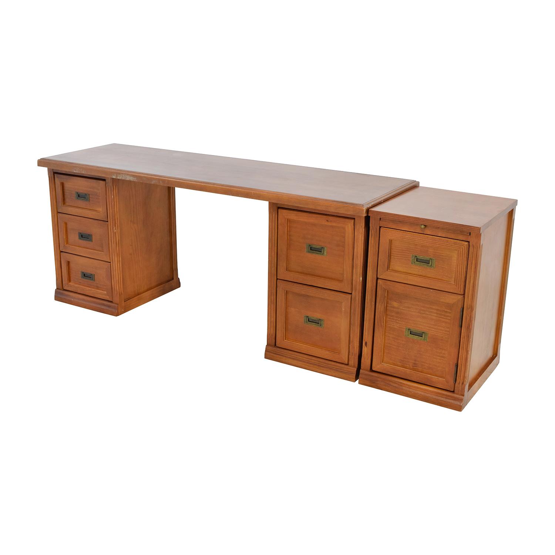 Large Wooden Office Desk