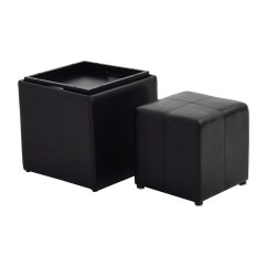 Chairs With Storage Ottoman Small Comfy 70 Off Black Leather Smaller