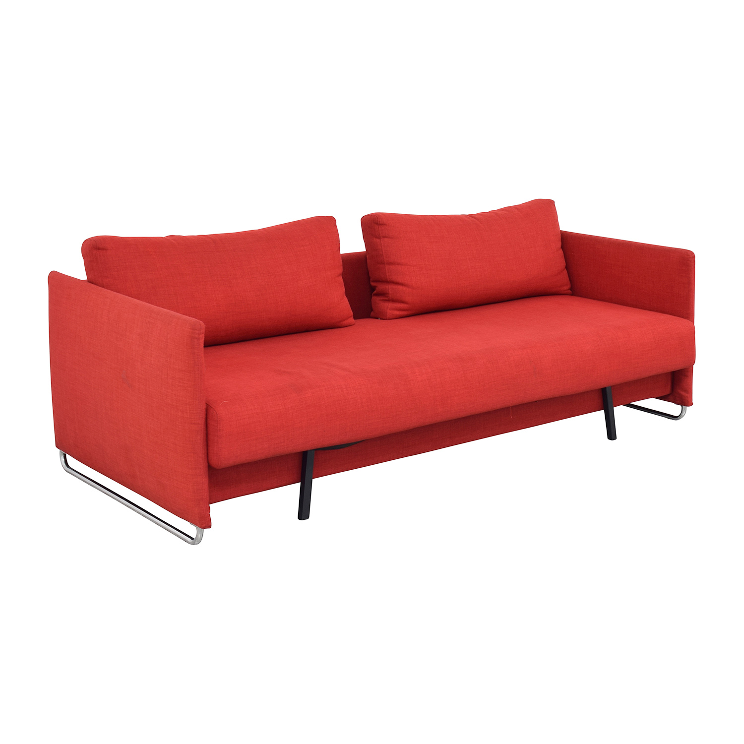 cb2 sectional sofa bed king podcast podbay red sleeper sofas as mart for on