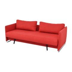 Cb2 Sectional Sofa Bed Rv Air Mattress Sleeper 74 Off Tandom Red Sofas