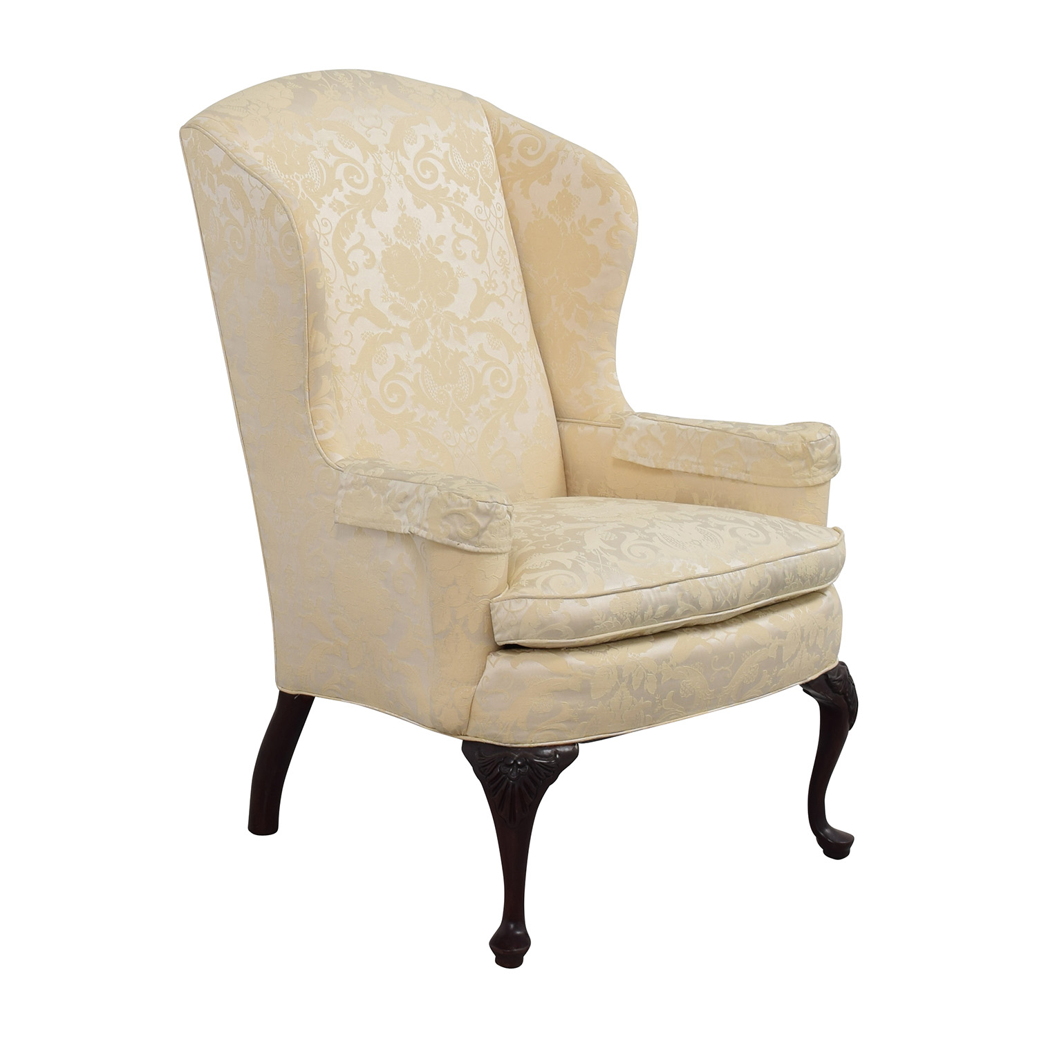 White Upholstered Chair 81 Off Croydon Furniture Croydon Furniture Queen Anne