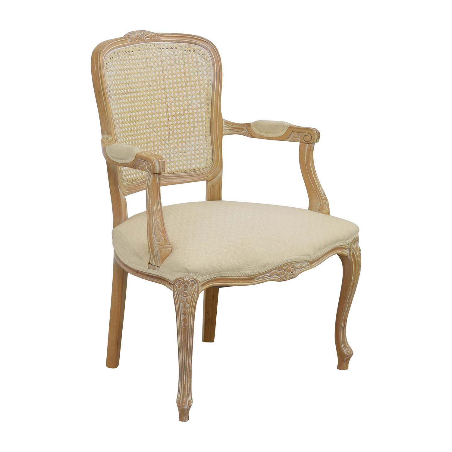 lexington dining chairs marble table and 68% off - link-taylor french provincial creme chair /