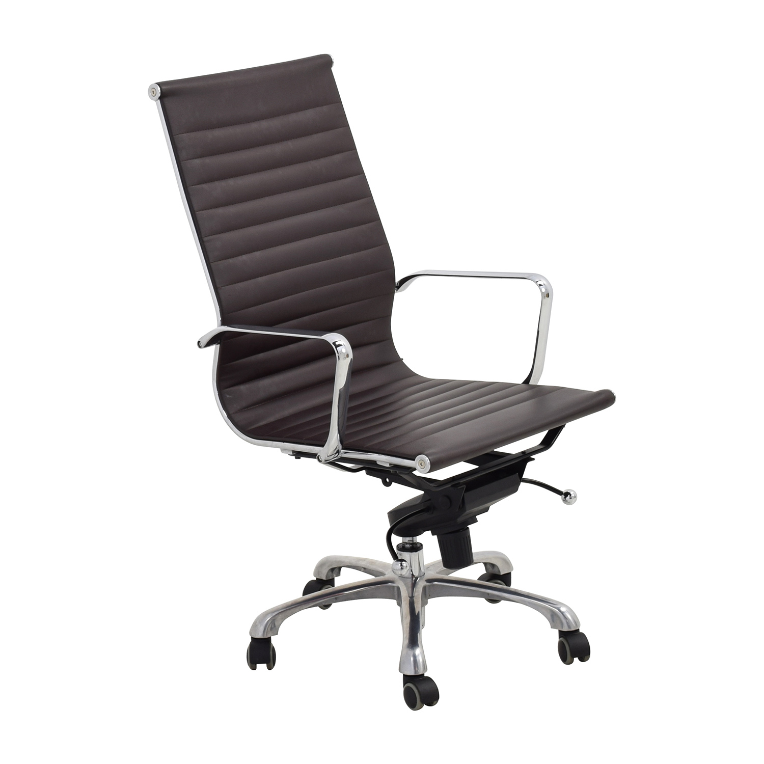 revolving chair second hand gothic wooden chairs 55 off eames style black adjustable office