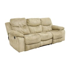 Bobs Furniture Sofa Recliner White Slipcover T Cushion 90 Off Bob 39s Beige Dual