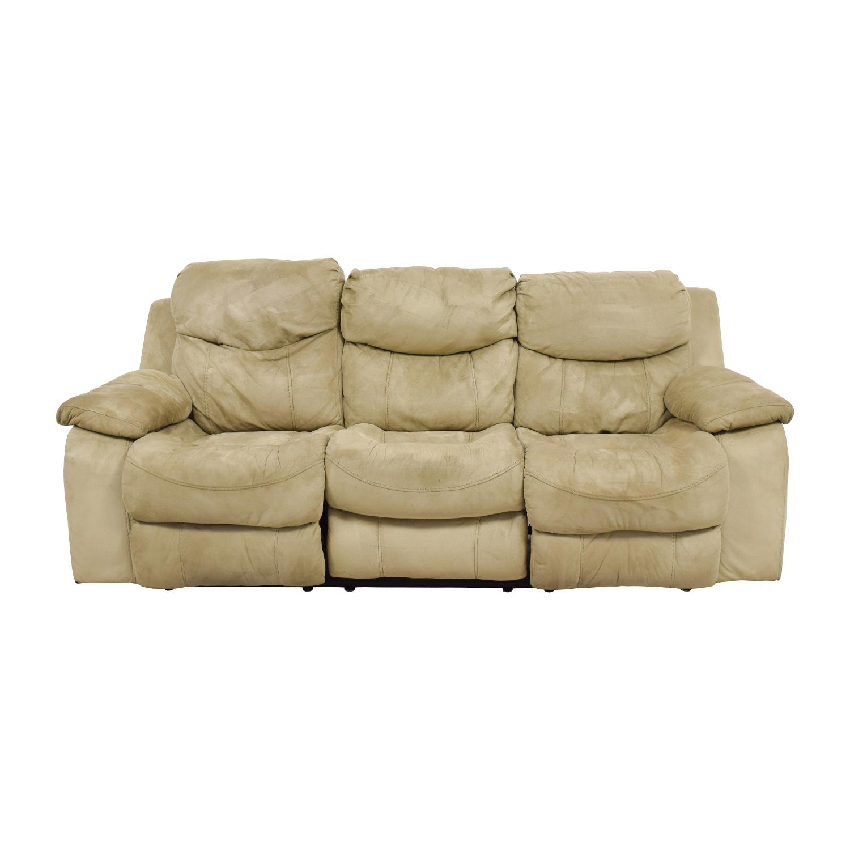 glider sofa sofas like pottery barn gliding double w console set bonded