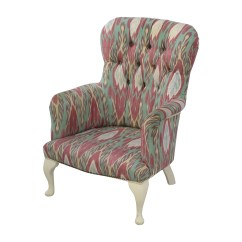 Print Accent Chair Rattan Chairs And Table Sets 80 Off Custom Uzbek Ikat Silk