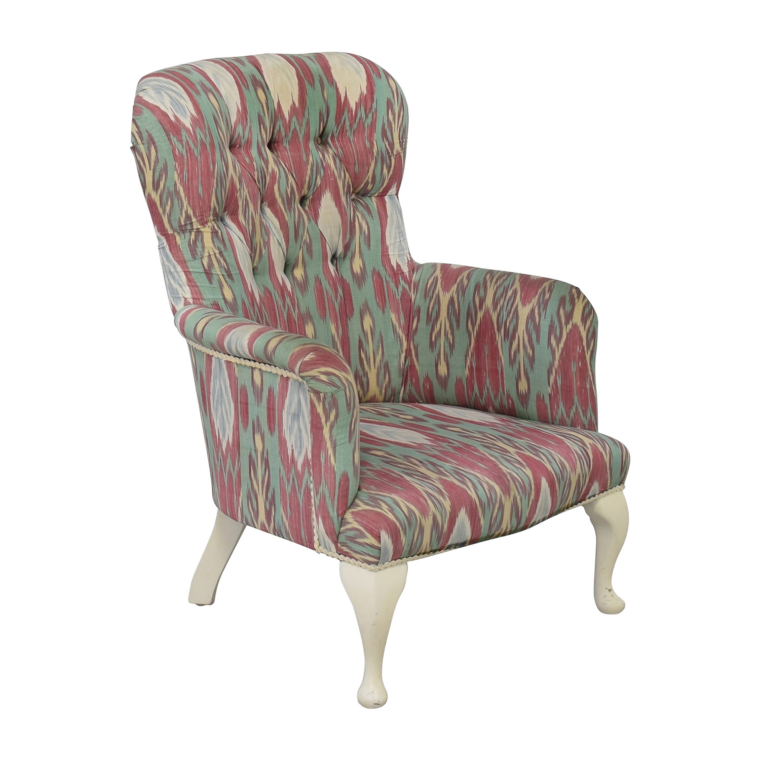 print accent chair covers and bows for sale 80 off custom uzbek ikat silk