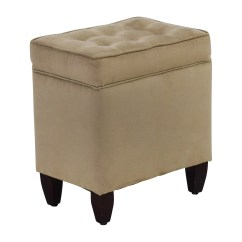 Chairs With Storage Ottoman Old Office Chair And Table 80 Off Beige Tufted