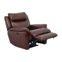 61% OFF - Macy's Macy's Brown Leather Power Recliner / Chairs
