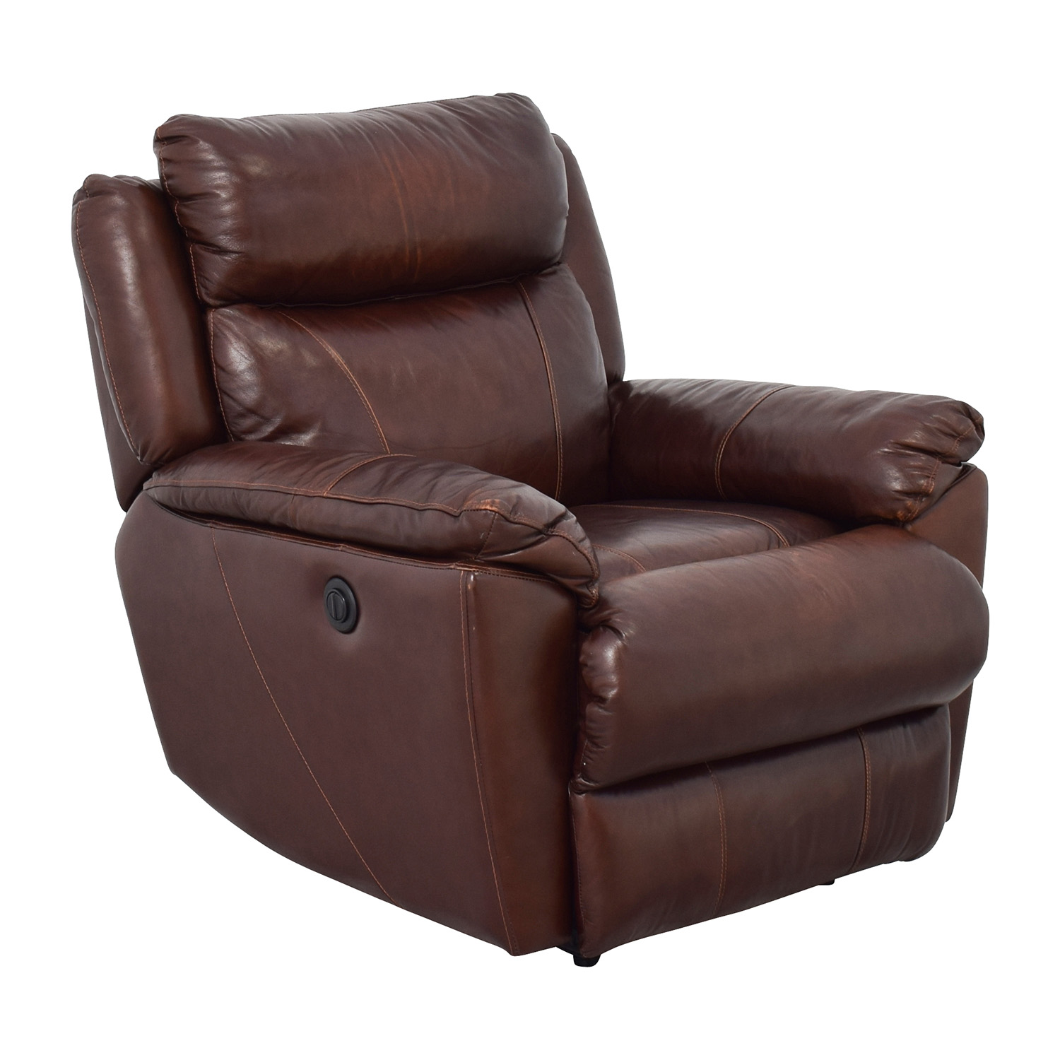 macy chairs recliners chair design metal 61 off 39s brown leather power recliner