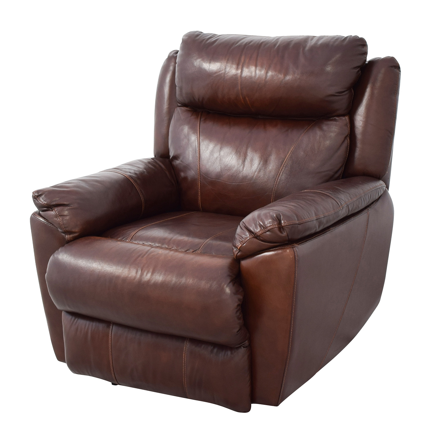 macy chairs recliners hanging chair outdoor 61 off 39s brown leather power recliner