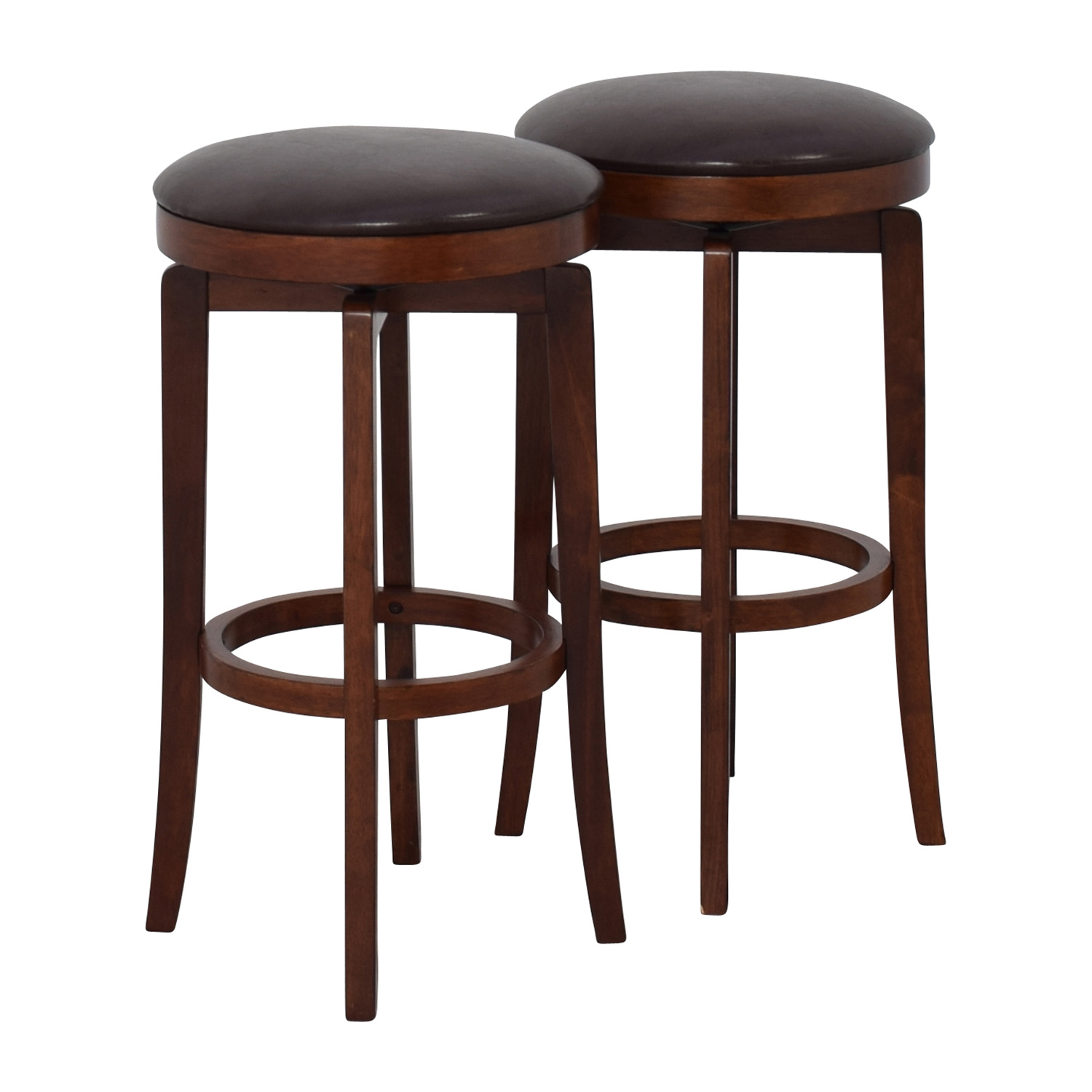 stool chair second hand pro gaming chairs uk 90 off jc penny malone backless leather swivel