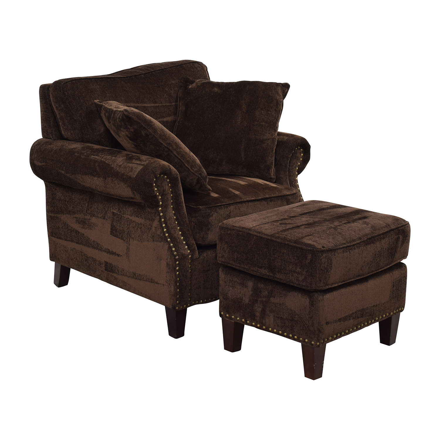 brown leather studded sofa wooden design indian chair sofas sectionals target thesofa