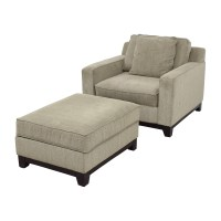 36% OFF - Macy's Macy's Clarke Grey Chair and Ottoman / Chairs