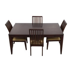 Macys Dining Chairs Brown Wicker At Lowes 45 Off Macy 39s Metropolitan Wood Extendable