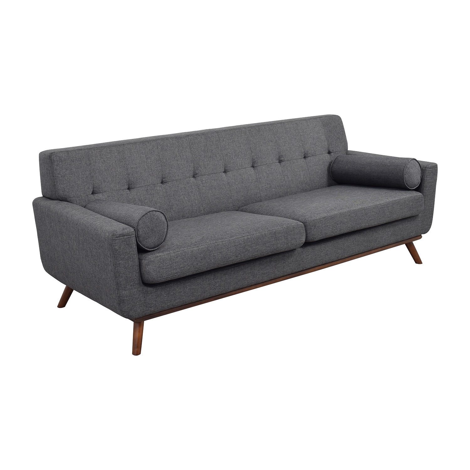 charcoal gray tufted sofa high leg 30 off inmod grey lars with