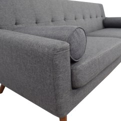 Charcoal Gray Tufted Sofa Seat Cushions Canada 30 Off Inmod Grey Lars With