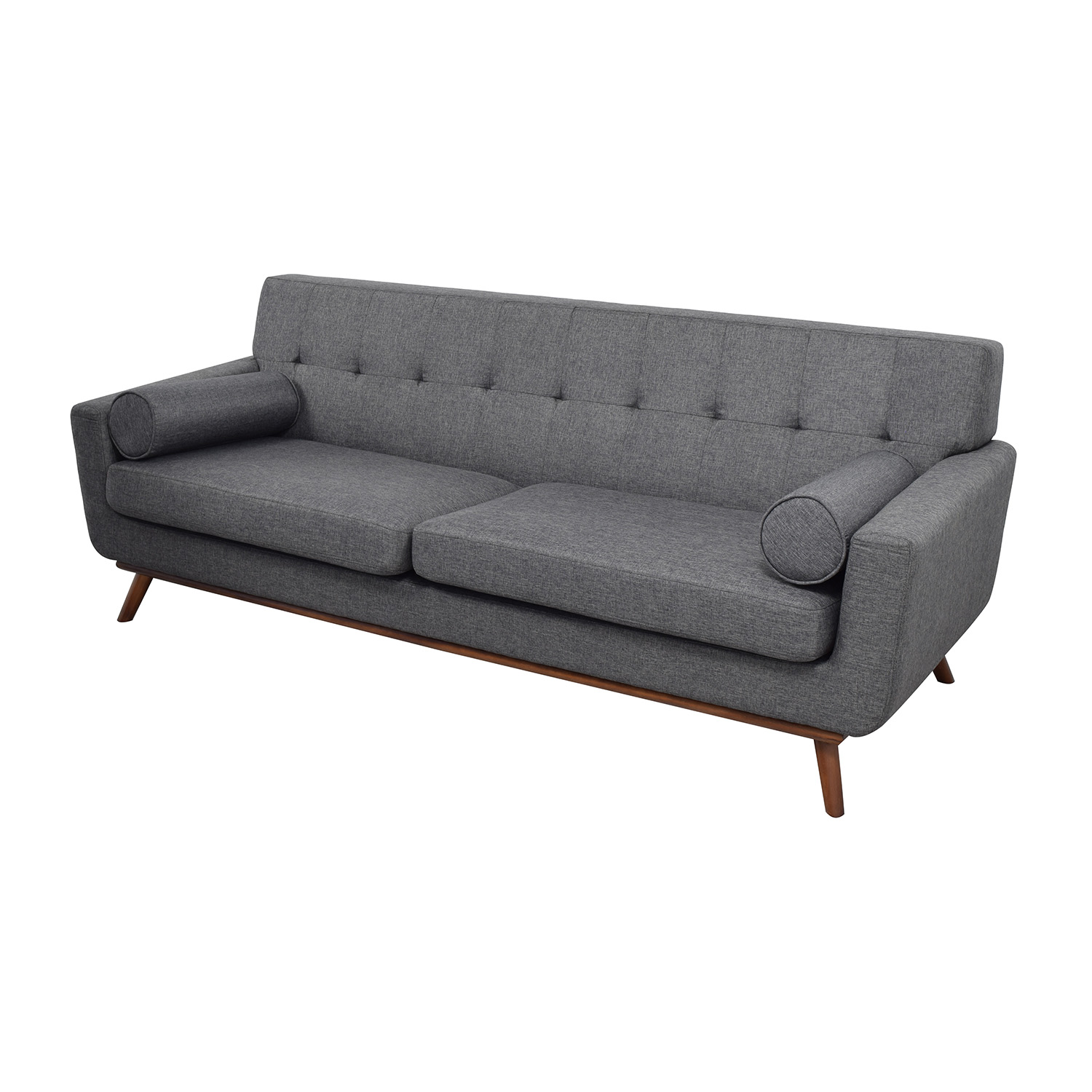 charcoal gray tufted sofa castle vale 30 off inmod grey lars with