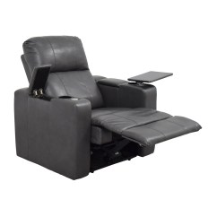 Used Recliner Chairs Electric Scooter Chair 90 Off Grey Leather With Storage And Usb Port