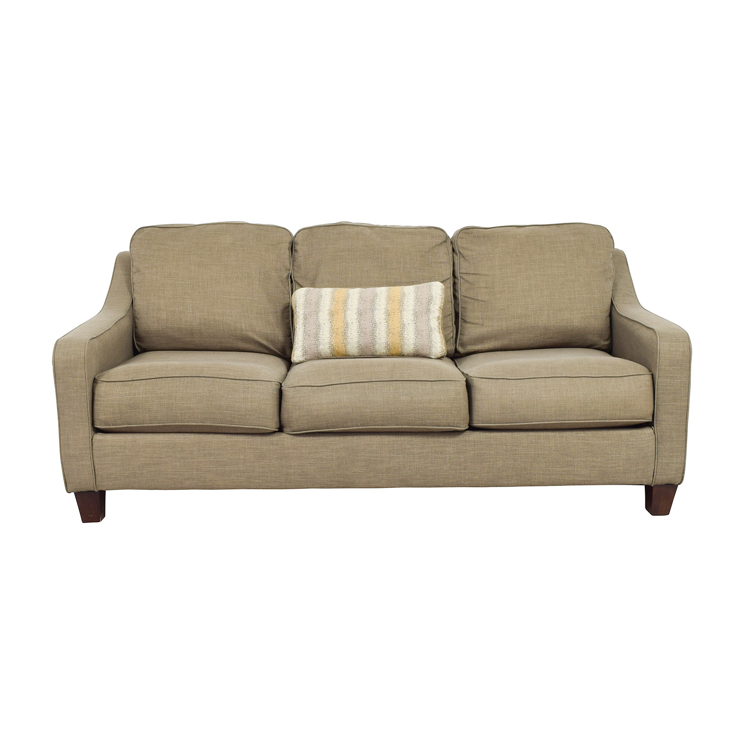 brown accent pillows sofa leather uk 55 off jennifer furniture