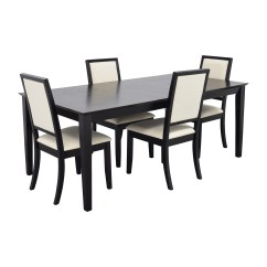 4 Chair Dining Table Designs Elderly Chairs Sale 72 Off Harlem Furniture Black