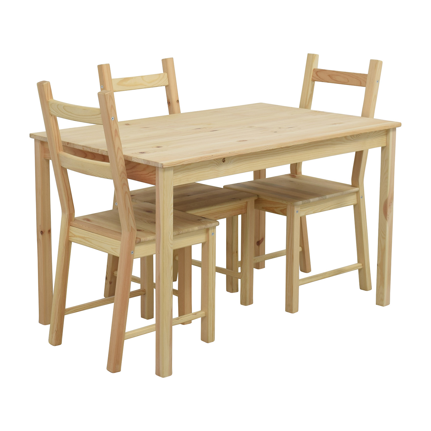 pine kitchen chairs ireland childrens upholstered uk ikea chair ivar solid dining room ebay