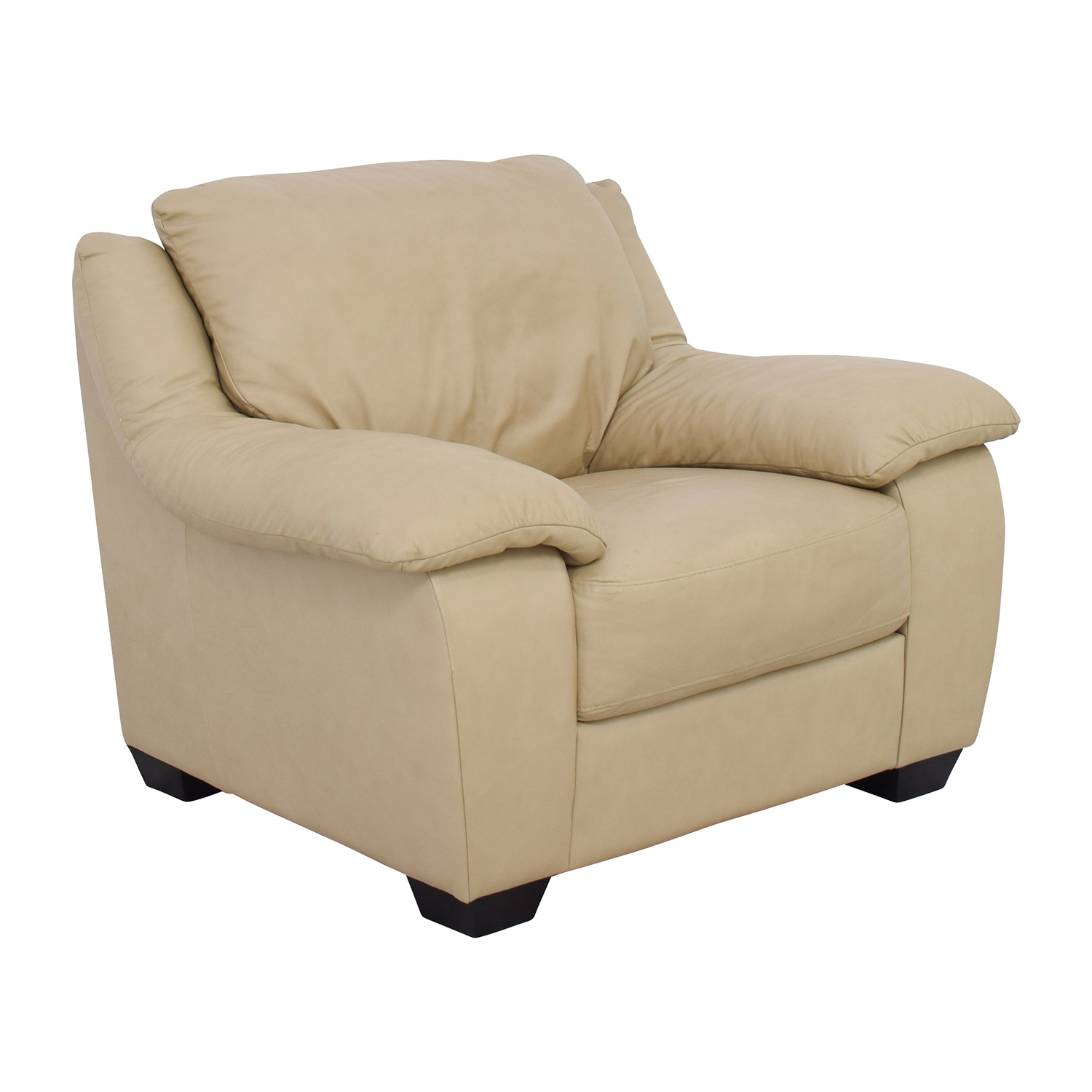 Leather Club Chair 86 Off Natuzzi Italsofa Natuzzi Italsofa Beige Leather