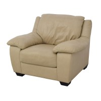 86% OFF - Natuzzi Italsofa Natuzzi Italsofa Beige Leather ...