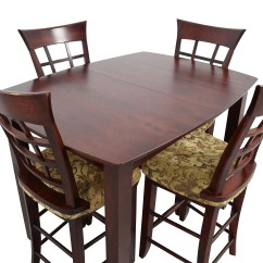 High Top Table Chair Set Lycra Covers And Sashes 48 Off Dining With Four Chairs Tables