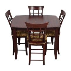High Top Table With 6 Chairs Brown Wingback Chair 90 Off Skovby Sm 24 Dining Butterfly