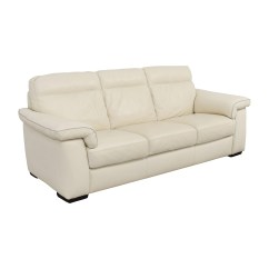 Three Cushion Sofa Sunbrella Fabric Slipcover 69 Off White Leather Sofas