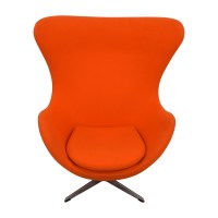 66% OFF - Inmod INMod Jacobsen Orange Egg Chair / Chairs