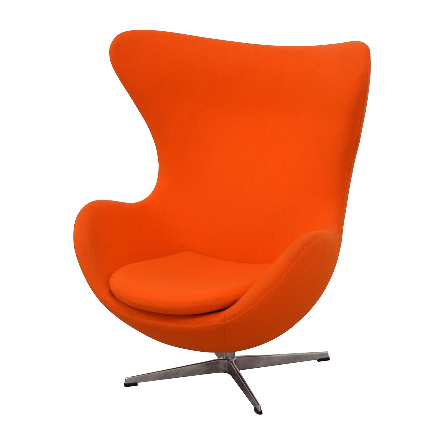 orange egg chair foldingchairsandtables 66 off inmod jacobsen chairs