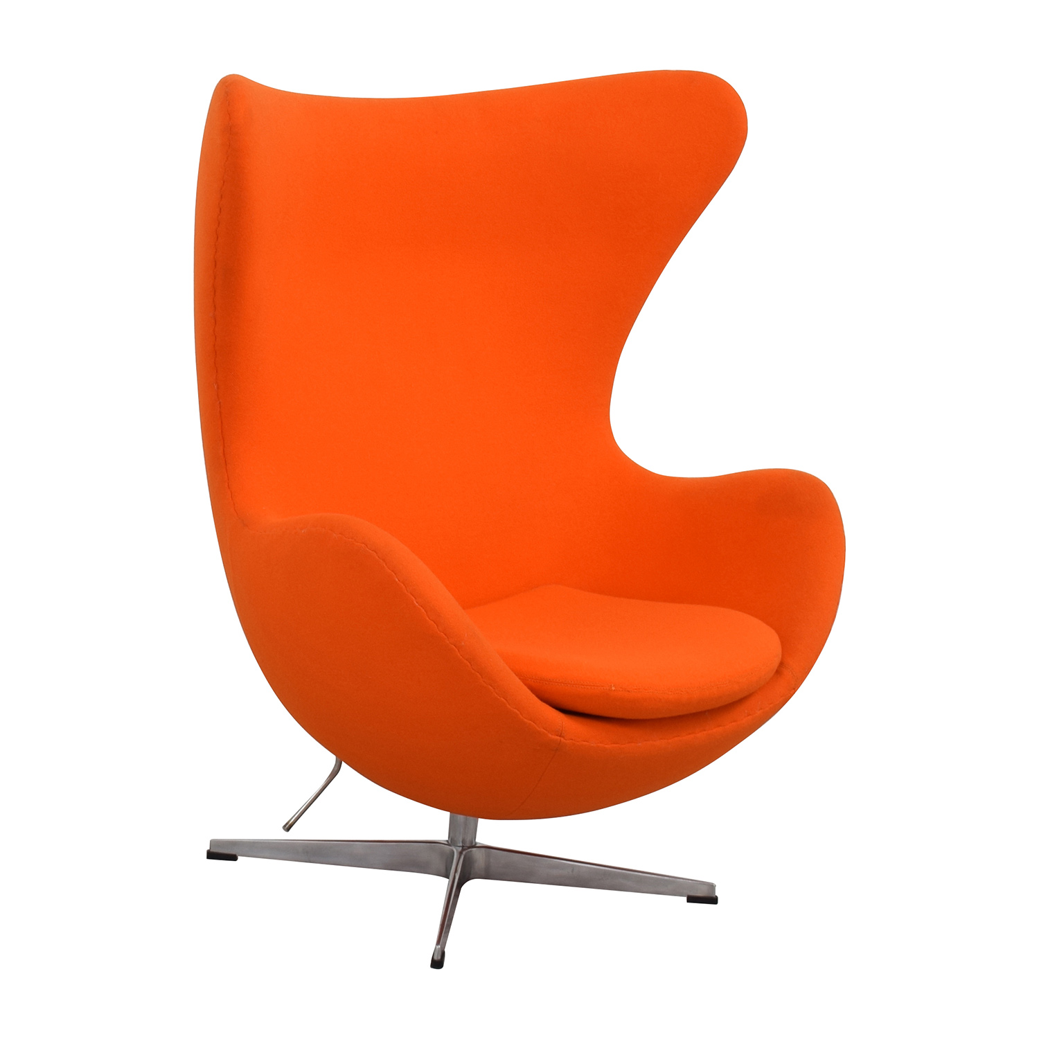 Used Egg Chair 66 Off Inmod Inmod Jacobsen Orange Egg Chair Chairs