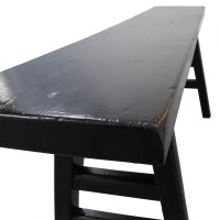 67% OFF - U-Shaped Black Wooden Bench / Chairs