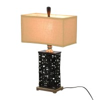 69% OFF - Dark Metal Table Lamp / Decor