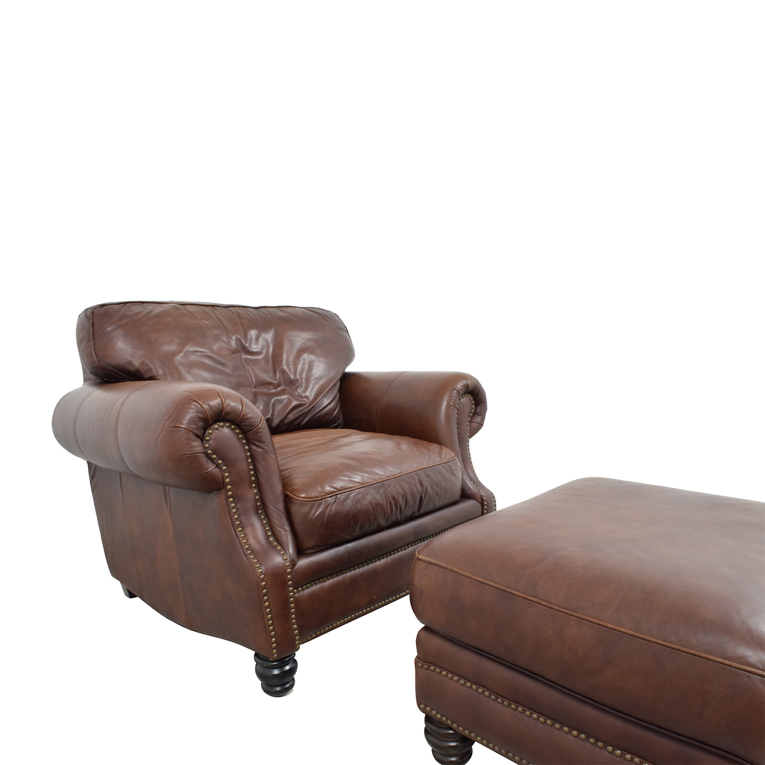 accent chairs to go with brown leather sofa price of set in stan 75 off studded armchair matching