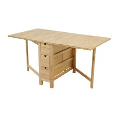 Ikea Kitchen Table With Drawers Glass Top 49 Off Birch Norden Gateleg Drop Leaf