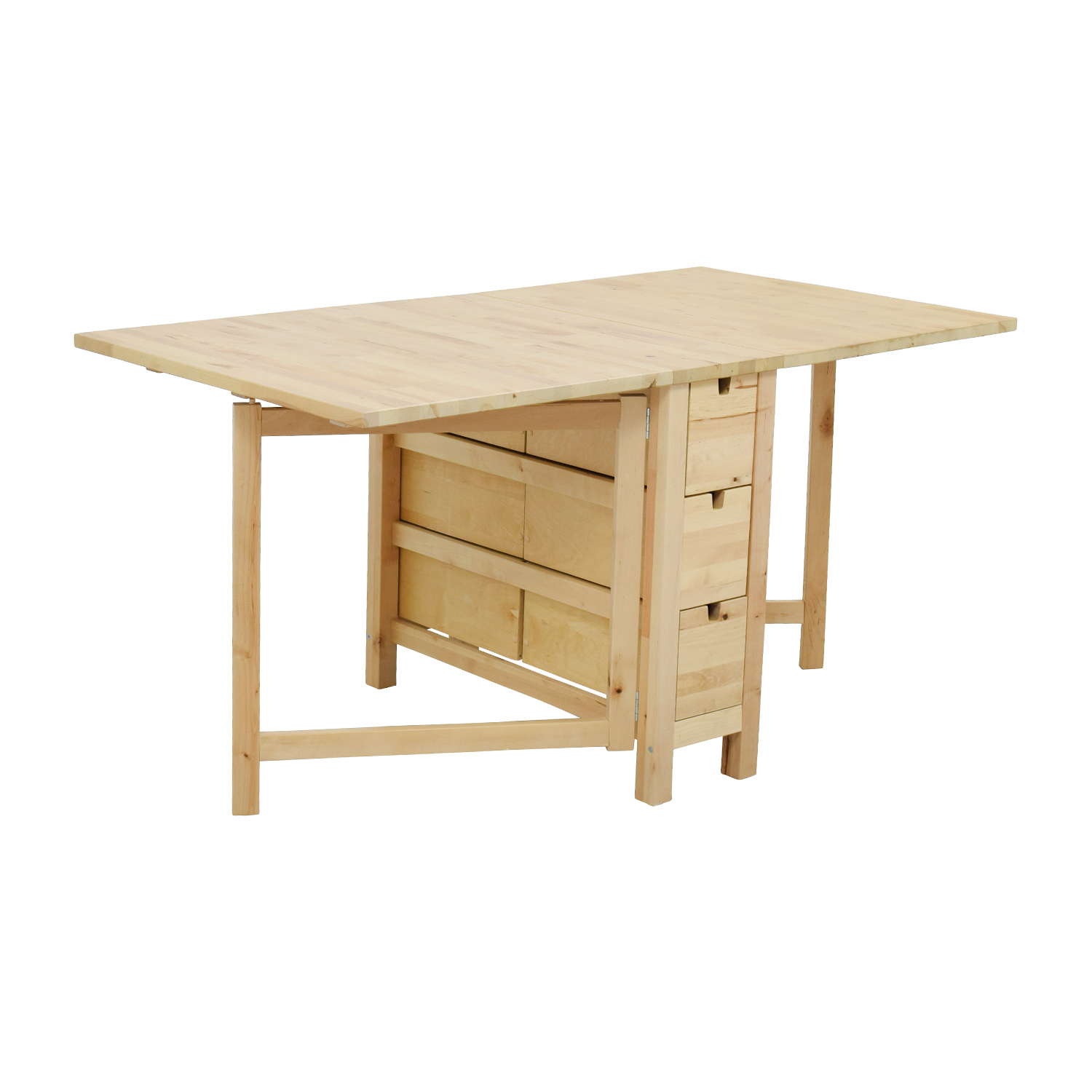 ikea kitchen table with drawers how to reface cabinets 49 off birch norden gateleg drop leaf