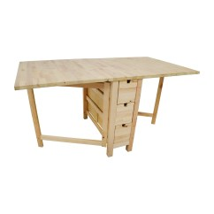 Ikea Kitchen Table With Drawers Cabinets Pittsburgh 49 Off Birch Norden Gateleg Drop Leaf
