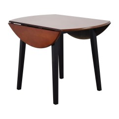 Round Wooden Kitchen Table Cheap Towels 90 Off Bob 39s Furniture Brown Wood