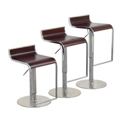 Stool Chair Second Hand X Rocker Office 84 Off Inmod Forest Brown Adjustable Bar Counter