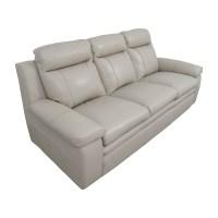 67% OFF - Macy's Macy's Zane White Leather Sofa / Sofas
