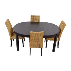 Macys Dining Chairs Blue Desk Chair 66 Off Macy 39s And Ikea Round Black Table Set With
