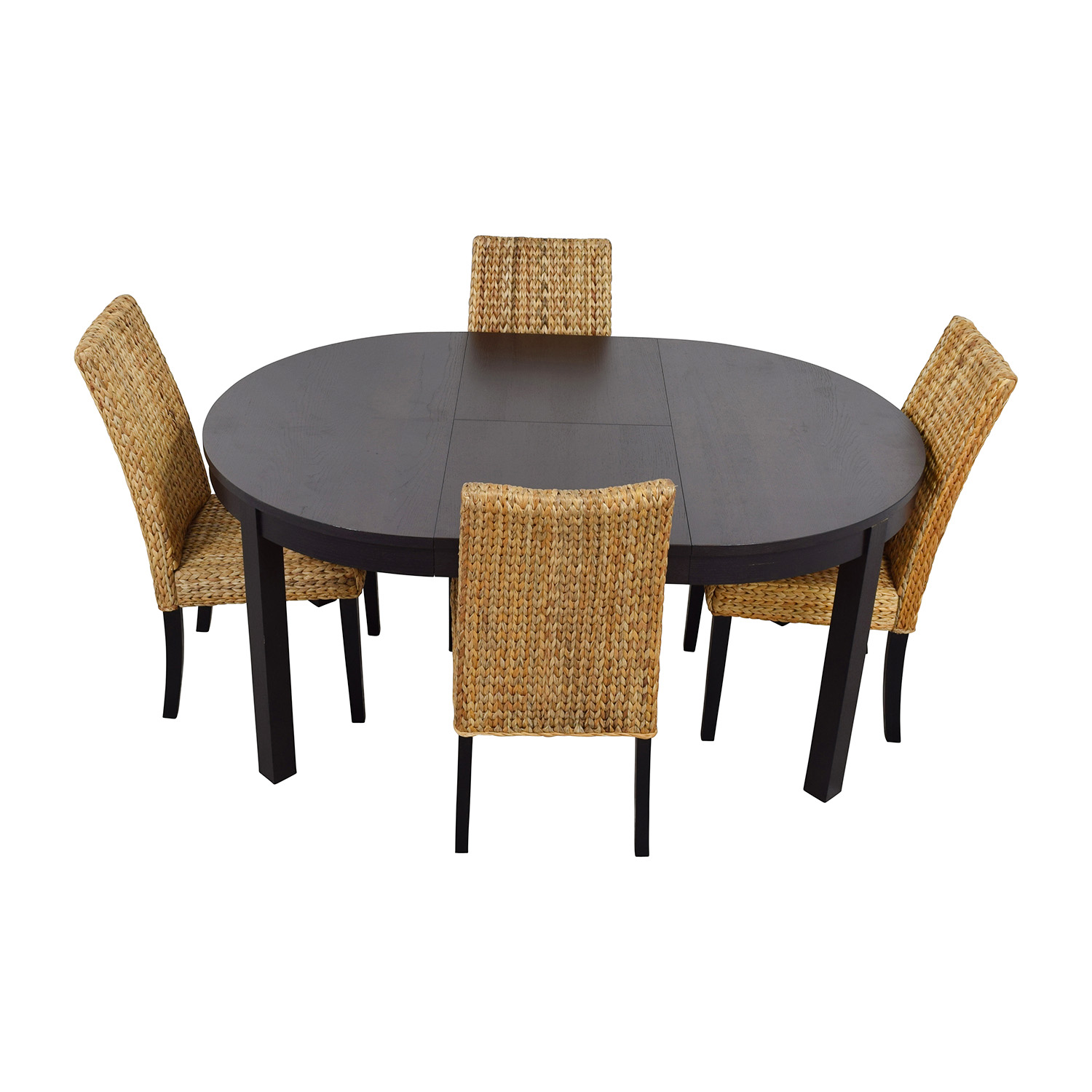 Round Dining Table And Chairs 66 Off Macy 39s And Ikea Round Black Dining Table Set With